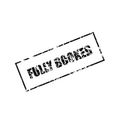 fully booked rectangular stamp isolated on white vector image