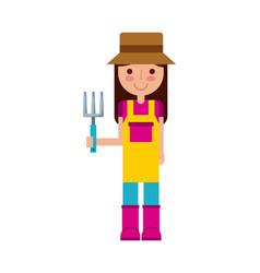 gardener woman icon vector image