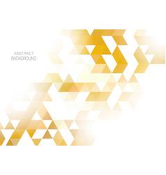 geometric shaped design yellow hexagons vector image