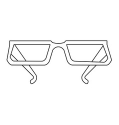 glasses frame icon image vector image