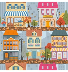 Great city map creatorSeamless pattern map Houses vector