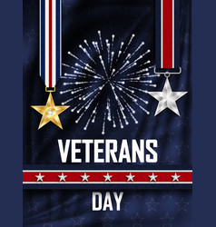 Grunge rubber stamp with text veterans day vector