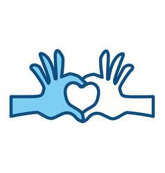 Hands heart shape vector