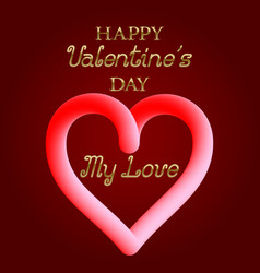 Happy valentines day my love golden text and vector