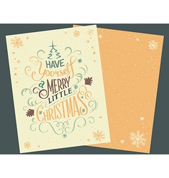 Have yourself Christmas card vector image