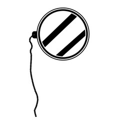 isolated hipster monocle vector image