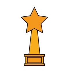 Isolated trophy star design vector