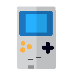 Isolated videogame console vector