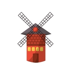 isolated windmill tower vector image