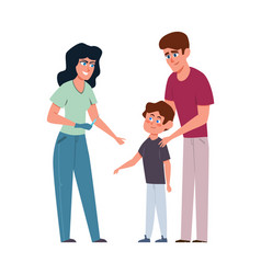 kids vaccination female doctor and little boy vector image