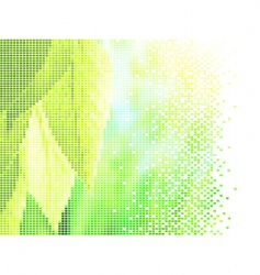 leaves and sun vector image