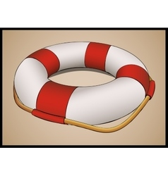 Lifebuoy in perspective vector