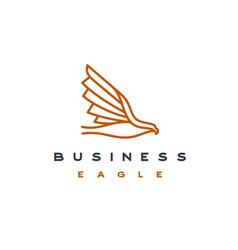 line art eagle logo design template vector image
