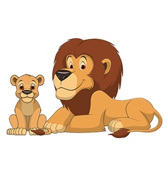 Lion with cub vector