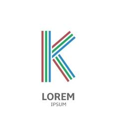 LOREM ipsum K vector image