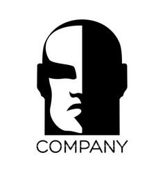 Man face logo vector