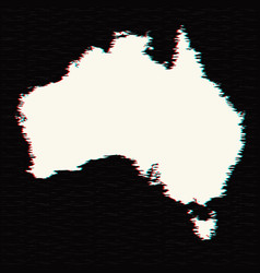 Map australia isolated black vector
