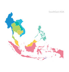 map southeast asia vector image