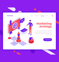 marketing strategy teamwork people and interact vector image
