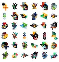 Mega set of geometric web option box banners vector