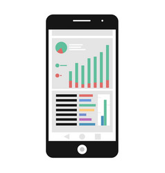 mobile analytics icon vector image