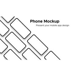 mobile app design smartphone mockup vector image