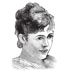 Nellie grant vintage vector