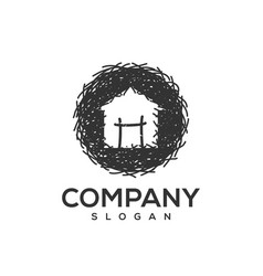 nest logo design vector image