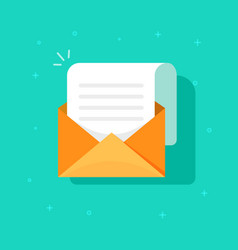 new email message icon flat carton envelope vector image