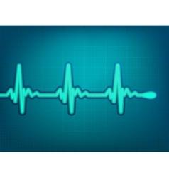 Normal electronic cardiogram vector image