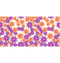 Orange and violet flowers vector