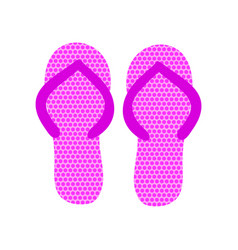 pair of pink flip flops vector image