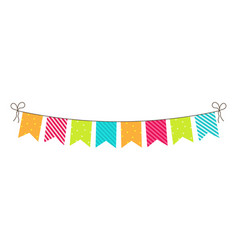 party bunting birthday flags and garland fun vector image
