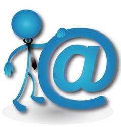 People with the email sign vector image