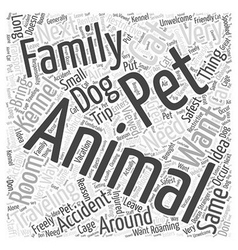 pet friendly rentals Word Cloud Concept vector image