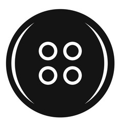 plastic button icon simple style vector image