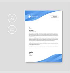 Professional creative blue letterhead graphic vector