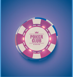 red white casino poker chips with luminous vector image