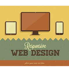 Retro Web Design Template vector