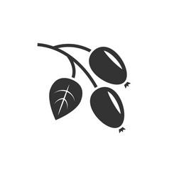 Rosehip icon black vector