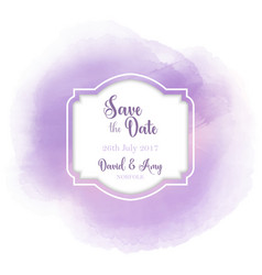 Save the date watercolour design vector