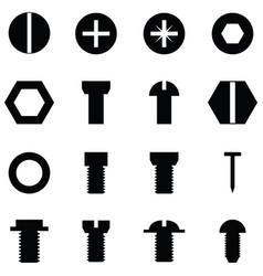 screw icon set vector image