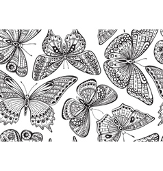 Seamless pattern with ornate doodle hand drawn vector