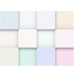 set of checkered paper square vector image