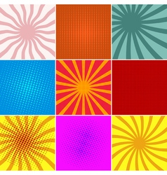 set ofpop art backgrounds vector image