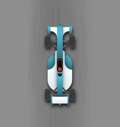sport car top view vector image