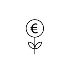 sprout euro icon element of finance signs and vector image