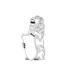 standing lion vector image