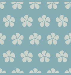 stylized flowers seamless pattern blue vector image