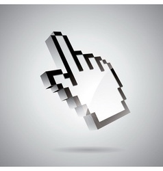 technology styled with shiny hand pointer vector image